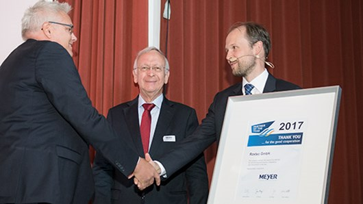 "Roxtec GmbH appointed ""Partner of the Year"" by Meyer Group"