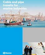 Cable and pipe transits for marine industries