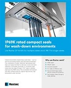 IP69K rated compact seals – Product sheet