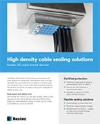 High density cable sealing solution