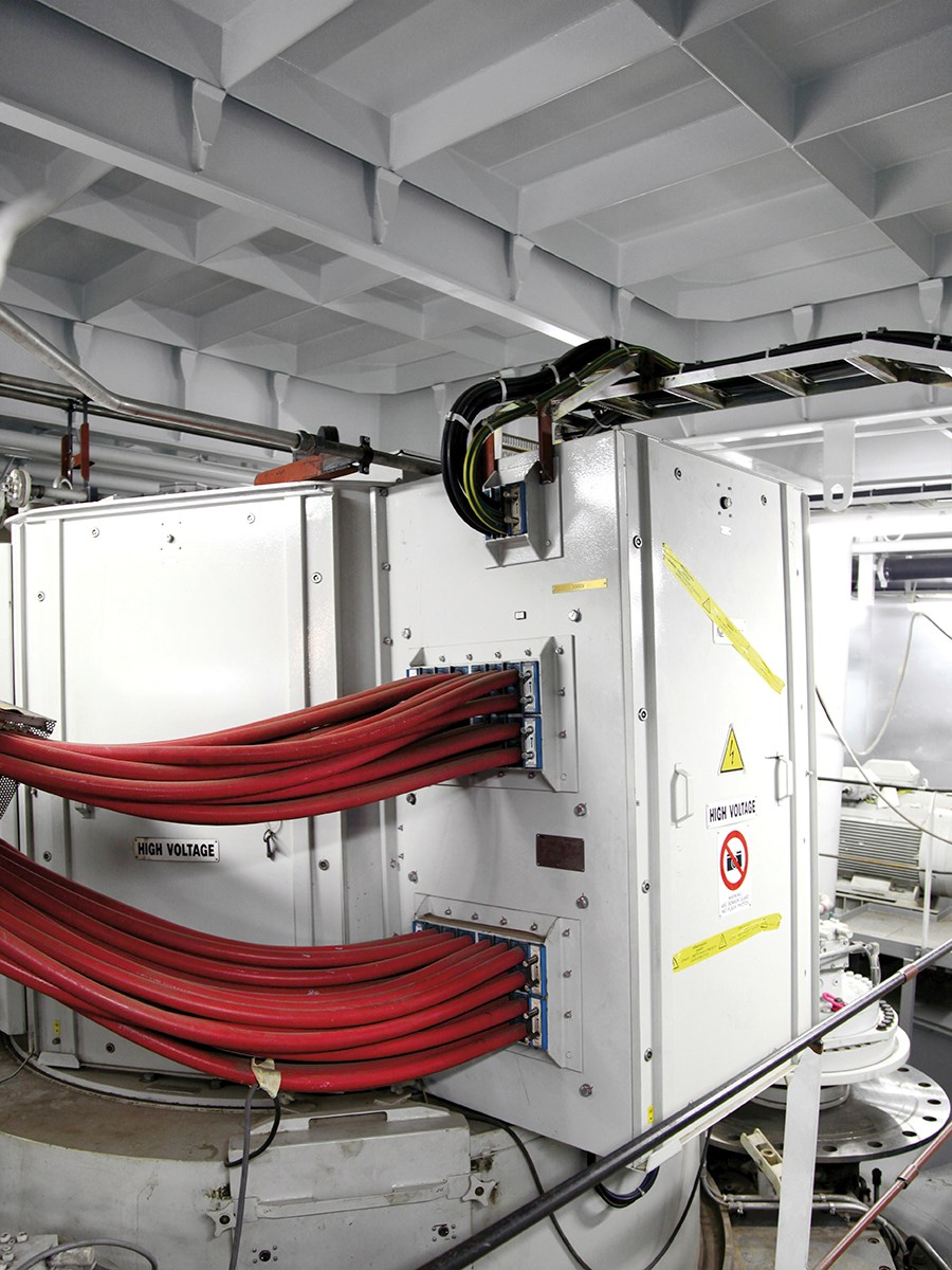Oasis Of The Seas Engine Room: Cable And Pipe Transits For Cruise Ships