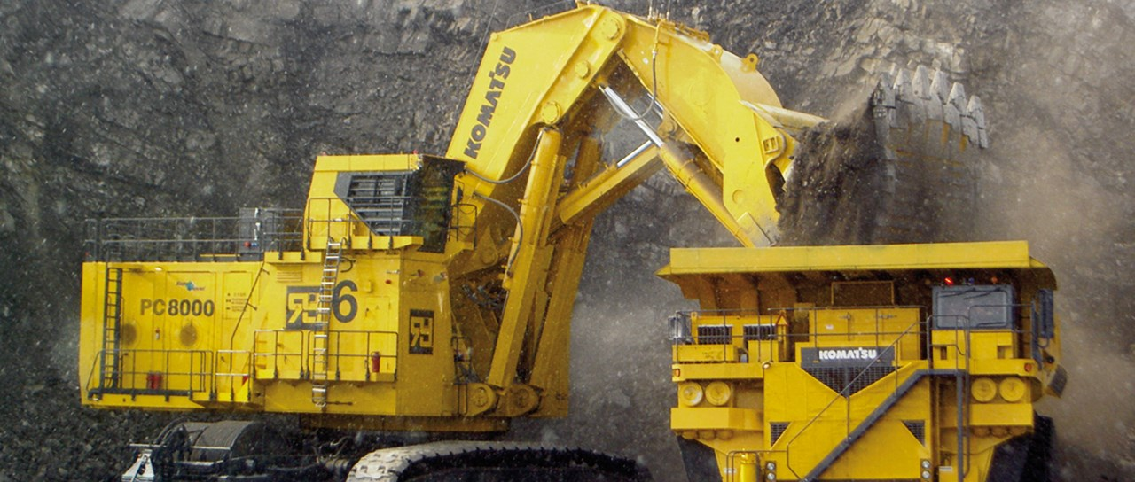 Roxtec seals in Komatsu mining equipment