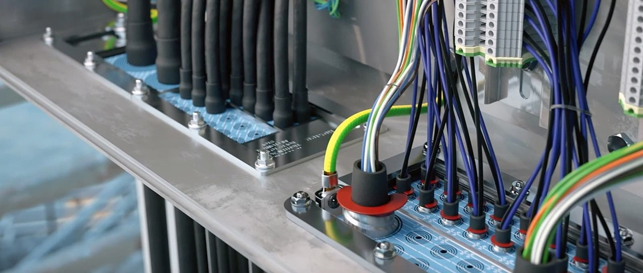 Multi-cable transits in cabinets and enclosures
