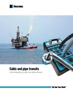 Cable and pipe transits for offshore oil and gas applications