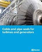 Cable and pipe seals for turbines and generators
