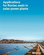 Applications for Roxtec seals in solar power plants