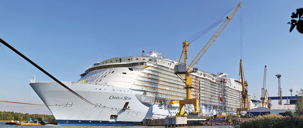 Cable and pipe transitsfor cruise ships